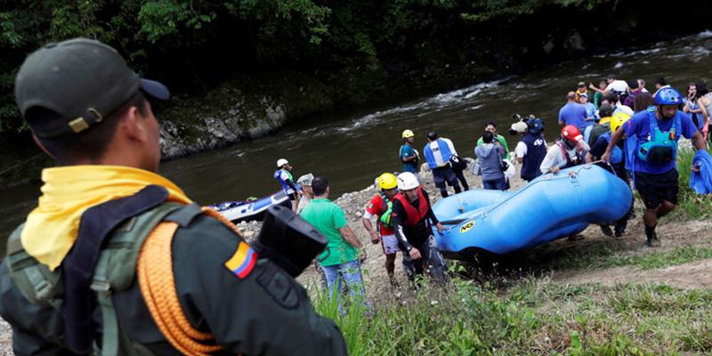 Este grupo de ex guerrilleros de la FARC representará a Colombia en el Mundial de raftin