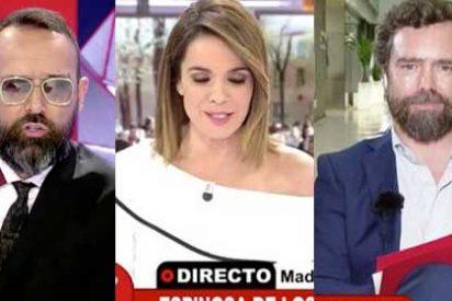 """Los de Risto Mejide se vienen tan arriba que denigran a su propia compañera Carme Chaparro: """"¡A ver si Espinosa de los Monteros tiene narices de venir aquí!"""""""