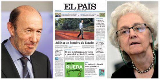 Exclusiva PD / Las plañideras de El País lloran la muerte de un Rubalcaba al que echaron como agua sucia