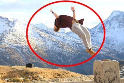 (VIDEO) Este atleta demuestra lo doloroso que puede ser un doble salto mortal hacia atrás en el 'Slackline'