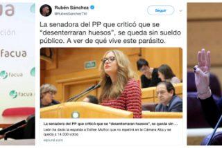 """Ester Muñoz (PP) destroza al 'Facuo' por insultarla en Twitter: """"Cobarde, no has tenido ni los huevos de nombrarme"""""""