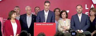 Sánchez adelanta su comparencia con cara de funeral y deja el marrón de la derrota a Gabilondo