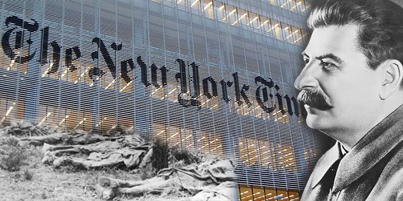 ¿Sabes cómo ocultó 'The New York Times' el genocidio de Stalin durante años y recibió un Pulitzer por ello?