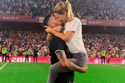 Copa del Rey: Tamara Gorro celebra el 2-1 del Valencia al Barça