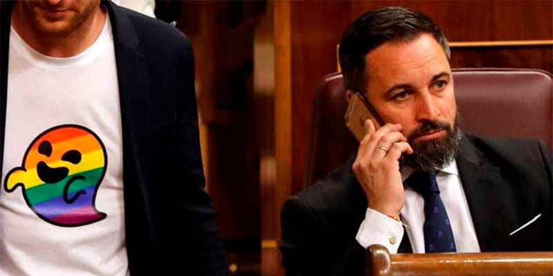 Tres diputados del PSOE tratan de provocar a Santiago Abascal pero hacen un espantoso ridículo