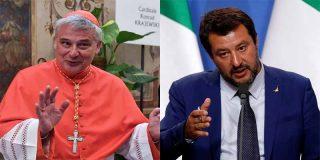 El ministro Salvini sacude duro al cardenal Krajewski 'Robin Hood', por robar la luz para los okupas