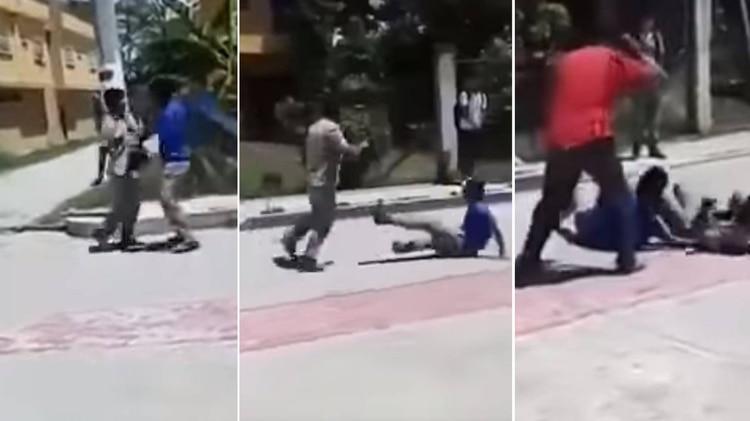 """Un profesor rompe a """"cinturonazos"""" una pelea entre dos alumnos"""