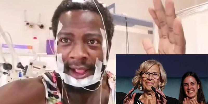 "Bertrand Ndongo: ""Vete a tu casa Carmena a hacer magdalenas; menuda inútil"""