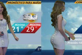 Yanet García, la chica del clima, se pone un pudoroso disfraz que marca su atributo más preciado
