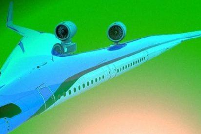 La empresa KLM quiere construir un avión en forma de V que llevará a los pasajeros en el ala