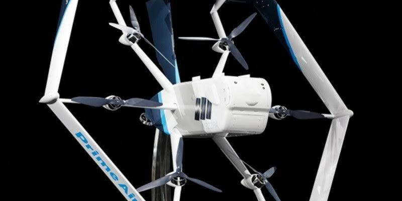 Este nuevo dron presentado por Amazon es capaz de hacer entregas a domicilio