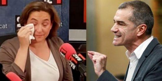 Toni Cantó le pinta la cara a la llorona de pega Ada Colau rescatando sus turbias amenazas contra la clase política