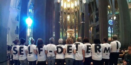 Activistas de la ANC se encierran unas horas en la Sagrada Familia