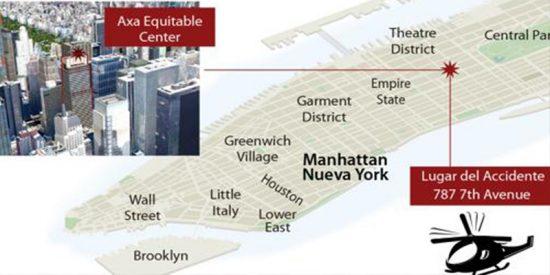 Helicóptero se estrella en un rascacielos de Manhattan y causa al menos un muerto