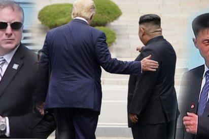 Alta tensión entre los guardaespaldas de Kim y de Trump, juntos en la zona desmilitarizada durante el encuentro de ambos líderes