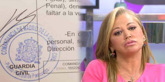 """Belén Esteban denuncia ante la Guardia Civil tras su boda: """"Han usurpado mi identidad"""""""