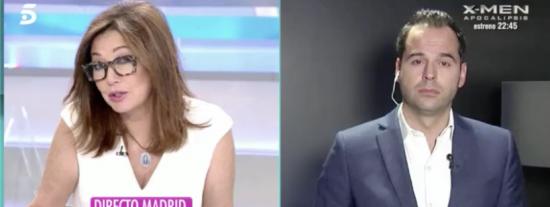 """Ana Rosa le mete un repaso épico al flojísimo Aguado: """"¡Necesitan los votos de VOX!"""""""