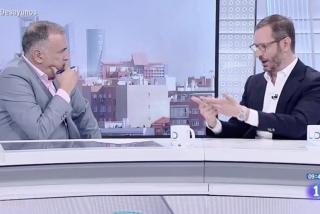Un tensísimo Fortes se afana en blanquear a Rosa María Mateo ante las quejas del PP por la entrevista a Otegi