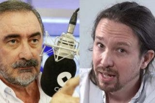 Carlos Herrera le suministra a Pablo Iglesias triple ración de su 'jarabe democrático'