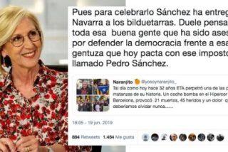 """Rosa Díez despelleja al """"impostor"""" Sánchez por pactar con la gentuza heredera de ETA"""