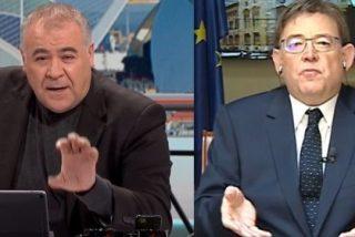 El bulldog valenciano de Sánchez tacha de franquistas a VOX y Ferreras guarda silencio frotándose las manos
