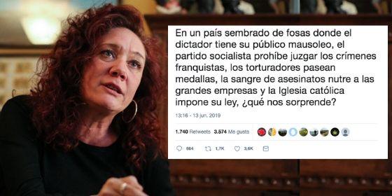 """Cristina Fallarás saca otra vez a Franco de la tumba y los tuiteros acaban cansados de ella: """"Eres una mamarracha tocapelotas"""""""