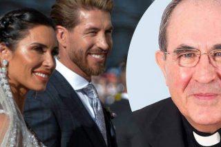 La 'espantá' del arzobispo de Sevilla en la boda de Sergio Ramos y Pilar Rubio