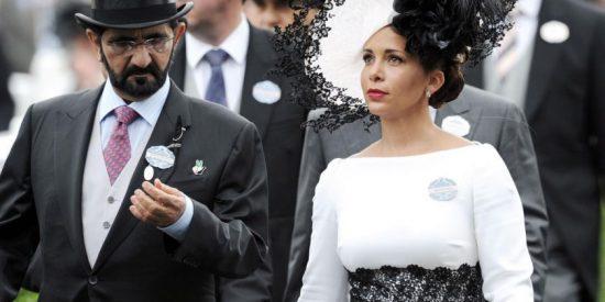 Mohamed bin Rashid Al Maktum y la princes Haya de Jordania.