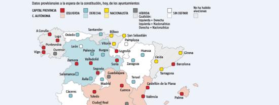 Ayuntamientos de España: Los cambios de alcalde más destacados tras los pactos de última hora