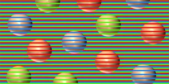 ¿De qué color son las esferas? Esta Ilusión óptica obliga al cerebro a 'inventar' colores
