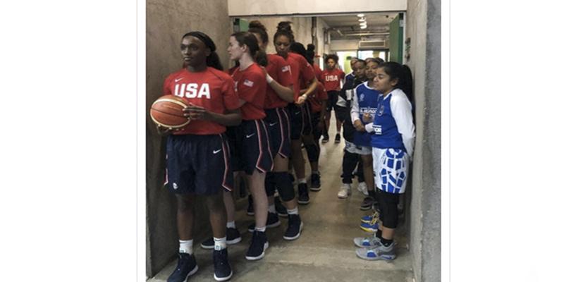 Esta es la foto que predijo la aplastante derrota de El Salvador ante EE.UU. en el campeonato americano de baloncesto femenino Sub-16