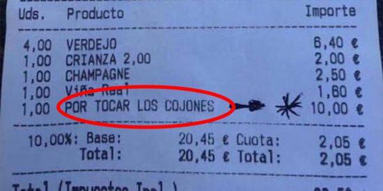 Este bar de Vizcaya cobra 10 euros de más a unos clientes «por tocar los cojones»
