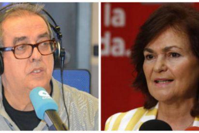 """Santiago González no se corta con Carmen Calvo: """"Sólo una cabeza muy averiada puede poner a Bildu y Vox en el mismo plano"""""""