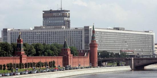 El ya demolido Hotel Rossía de Moscú.