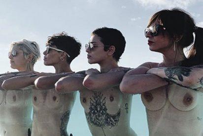 Estas cuatro «influencers» enseñan los pechos para demostrar que se puede burlar la censura de Instagram
