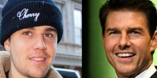 Lo que nunca esperarías ver hacer a Justin Bieber y Tom Cruise...