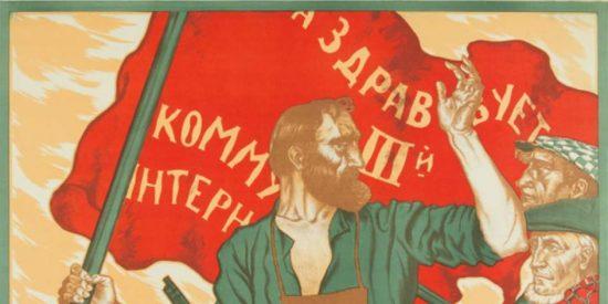 Un cartel de la III Internacional Comunista.