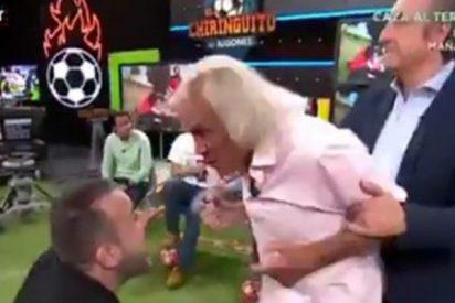 """El Loco Gatti hace honor a su nombre y arremete e insulta a un invitado en 'El Chiringuito': """"Tienes pinta de tonto"""""""