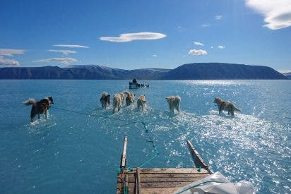 La foto viral que muestra la monstruosa magnitud del deshielo que sufre Groenlandia