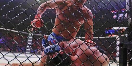 Este luchador recibe un incómodo e inusual golpe prohibido durante un combate de la MMA