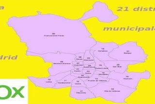 El PP dará tres presidencias de distrito a Vox en Madrid: Chamberí, Salamanca y Moncloa-Aravaca