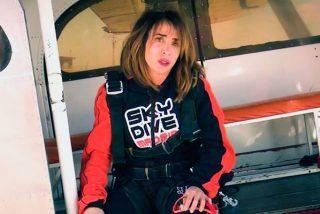El pánico puede con María Patiño y se niega a saltar en paracaidas