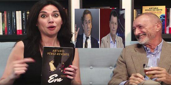Un estirado Pérez-Reverte se empeña en masajear a Marta Flich esgrimiendo su 'sobrevenida' enemistad con Hermann Tertsch y Alfonso Rojo
