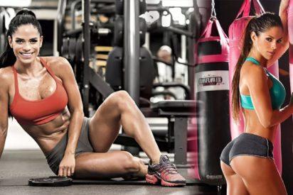 Michelle Lewin se calza un mini bikini y la moral deportiva sube en el planeta entero