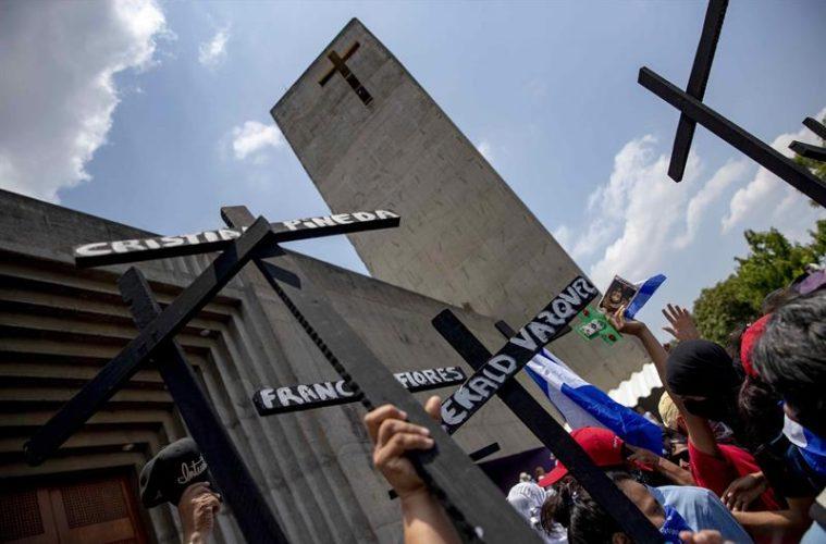 La Policía nicaragüense irrumpe en la catedral de Managua