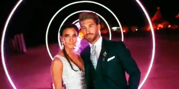 El vídeo de todo lo que pasó en la boda de Sergio Ramos y Pilar Rubio