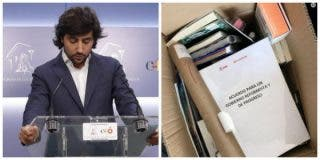 El 'ciudadano' Toni Roldán sube una peculiar foto de su despedida como diputado y en Twitter le invitan a pedir trabajo en Ferraz