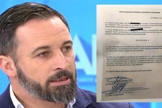 """VOX manda a hacer gárgaras a PP y CS y publica el documento en los populares se comprometen a cederles """"concejalías"""""""