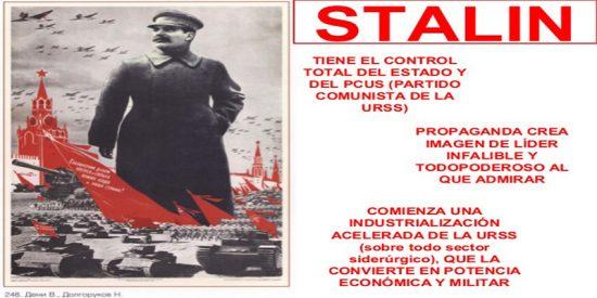 Stalin y el culto a la personalidad en la URSS.