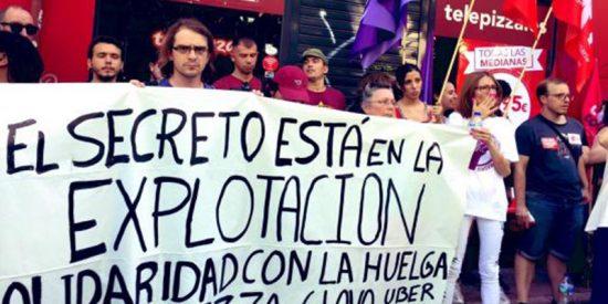 """Telepizza responde a IU: """"Nuestros trabajadores cobran, al menos, 900 euros al mes"""""""